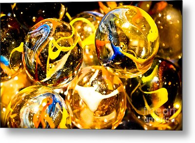 Marble Mania  Metal Print by Colleen Kammerer