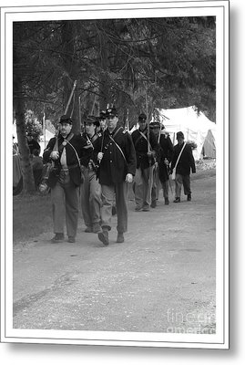 Marching Off To Battle Metal Print by Sara  Raber