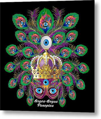 Mardi Gras Argos-argus Prints Metal Print by Bill Campitelle