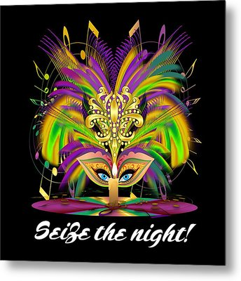 Mardi Gras Queen Style 2 Vector Sample Metal Print by Bill Campitelle