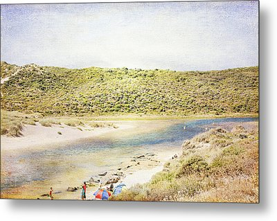 Margaret Rivermouth In Western Australia Metal Print by Elaine Teague