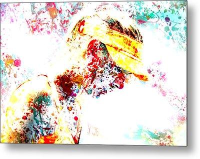 Maria Sharapova Paint Splatter 3p Metal Print by Brian Reaves