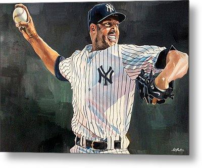 Mariano Rivera - New York Yankees Metal Print by Michael  Pattison