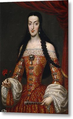 Marie-louise Of Orleans. Queen Of Spain Metal Print by Jose Garcia Hidalgo