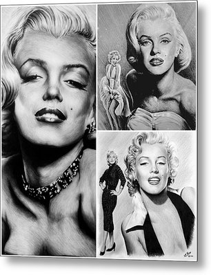 Marilyn Collage Metal Print by Andrew Read