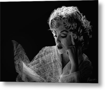 Marilyn Metal Print by Marina Likholat