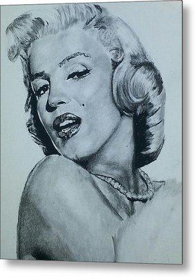Marilyn Monroe Metal Print by Aaron Balderas