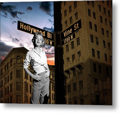 Marilyn Monroe At Hollywood Blvd Metal Print by Retro Images Archive