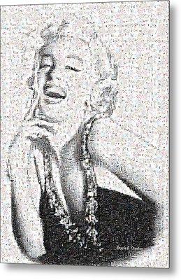 Marilyn Monroe In Mosaic Metal Print by Angela A Stanton
