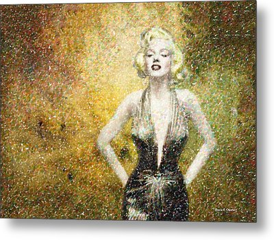 Marilyn Monroe In Points Metal Print by Angela A Stanton