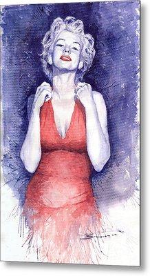 Marilyn Monroe Metal Print by Yuriy  Shevchuk