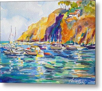 Marina At Catalina Metal Print by Therese Fowler-Bailey