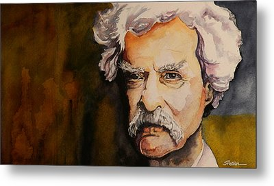 Mark Twain Metal Print by Scott  Parker