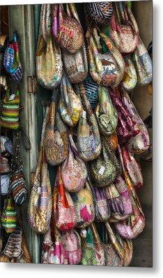 Market Bags 2 Metal Print by Brenda Bryant