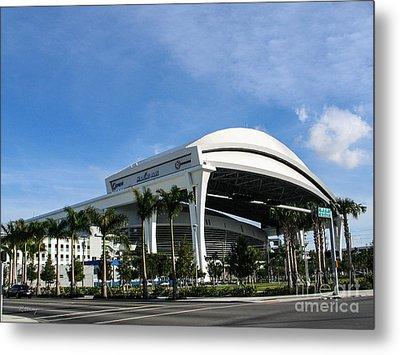 Marlins Park Stadium Miami 16 Metal Print by Rene Triay Photography