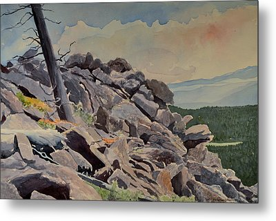 Marmot Hill Metal Print by Thomas Stratton