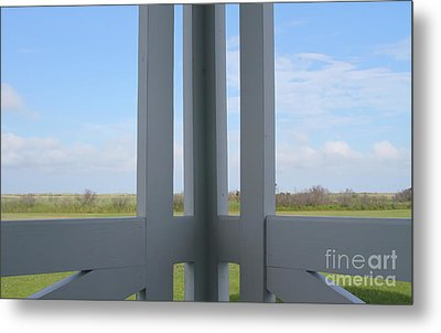 Marsh And Porch Metal Print by Cathy Lindsey