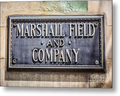 Marshall Field And Company Sign In Chicago Metal Print by Paul Velgos