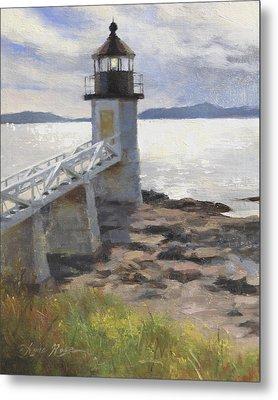 Marshall Point Lighthouse Metal Print by Anna Rose Bain