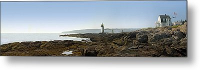 Marshall Point Lighthouse - Panoramic Metal Print by Mike McGlothlen