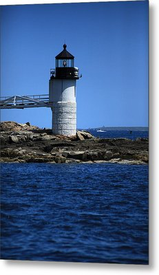 Marshall Point Surrounded By Blue Metal Print by Karol Livote