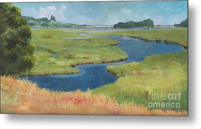 Marshes At High Tide Metal Print by Claire Gagnon