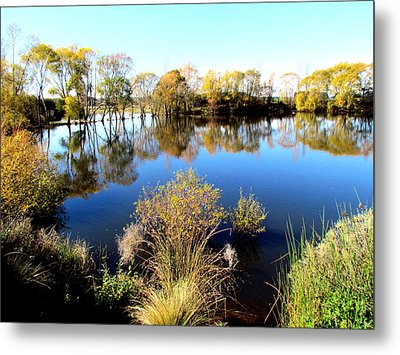 Marslands Water Ways Metal Print by Joyce Woodhouse