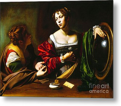 Martha And Mary Magdalene Metal Print by Pg Reproductions