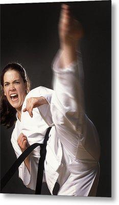 Martial Arts Kick Metal Print by Don Hammond