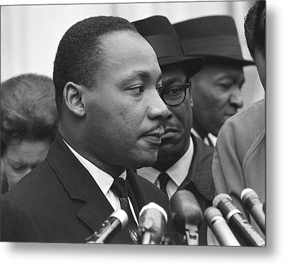 Martin Luther King, Jr Metal Print by Warren K. Leffler