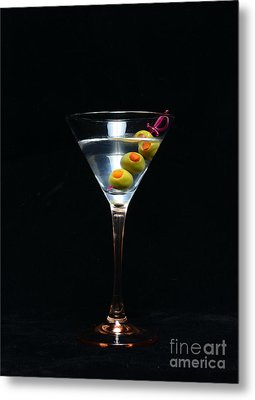 Martini Metal Print by Paul Ward
