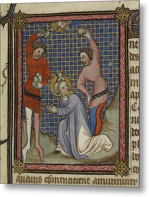 Martyrdom Of Saint Stephen Metal Print by British Library