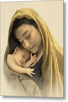 Mary And Baby Jesus Metal Print by Ray Downing
