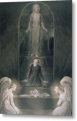 Mary Magdalene At The Sepulchre Metal Print by William Blake