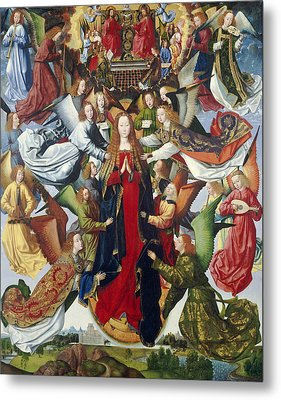 Mary, Queen Of Heaven, C. 1485- 1500 Oil On Panel Metal Print by Master of the Legend of St. Lucy