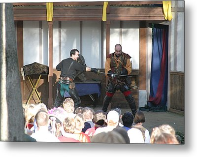 Maryland Renaissance Festival - Hack And Slash - 12128 Metal Print by DC Photographer