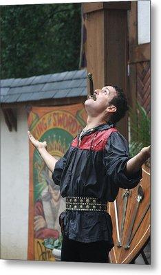 Maryland Renaissance Festival - Johnny Fox Sword Swallower - 121265 Metal Print by DC Photographer