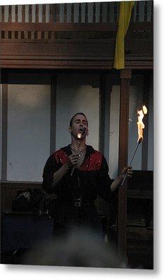 Maryland Renaissance Festival - Johnny Fox Sword Swallower - 121299 Metal Print by DC Photographer
