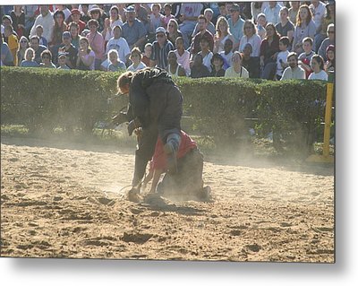 Maryland Renaissance Festival - Jousting And Sword Fighting - 1212103 Metal Print by DC Photographer