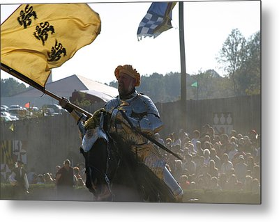 Maryland Renaissance Festival - Jousting And Sword Fighting - 1212130 Metal Print by DC Photographer