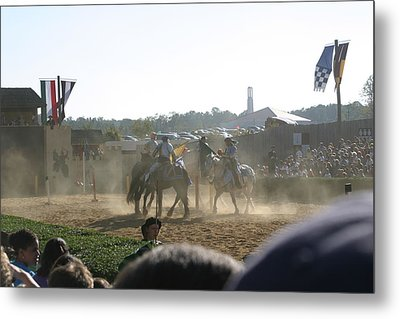 Maryland Renaissance Festival - Jousting And Sword Fighting - 1212139 Metal Print by DC Photographer