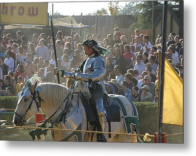 Maryland Renaissance Festival - Jousting And Sword Fighting - 1212162 Metal Print by DC Photographer