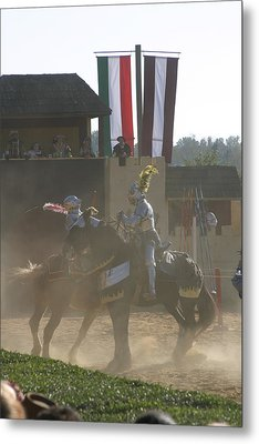 Maryland Renaissance Festival - Jousting And Sword Fighting - 1212180 Metal Print by DC Photographer
