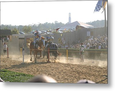 Maryland Renaissance Festival - Jousting And Sword Fighting - 1212195 Metal Print by DC Photographer