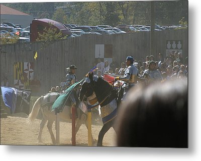 Maryland Renaissance Festival - Jousting And Sword Fighting - 1212202 Metal Print by DC Photographer