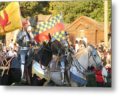 Maryland Renaissance Festival - Jousting And Sword Fighting - 121224 Metal Print by DC Photographer