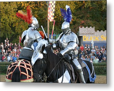 Maryland Renaissance Festival - Jousting And Sword Fighting - 121247 Metal Print by DC Photographer