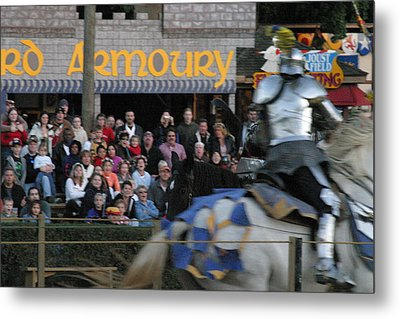 Maryland Renaissance Festival - Jousting And Sword Fighting - 121256 Metal Print by DC Photographer