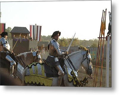 Maryland Renaissance Festival - Jousting And Sword Fighting - 121267 Metal Print by DC Photographer