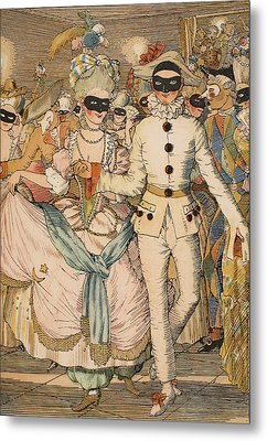 Masked Ball Metal Print by Konstantin Andreevic Somov